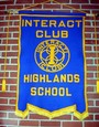 The banner in the hall at Highlands school.